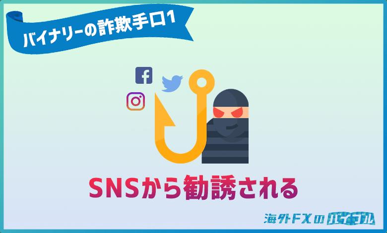 バイナリーオプションの詐欺はSNSのDMやコメントからの勧誘