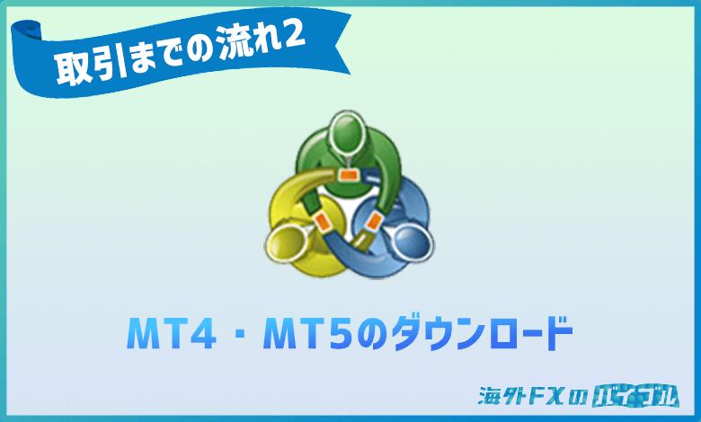 XMのMT4・MT5のダウンロード方法