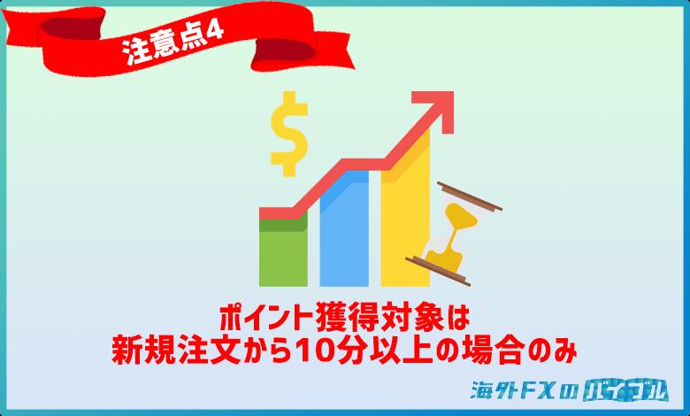 XMロイヤリティプログラムで新規注文から10分以内に決済された注文はポイント対象外