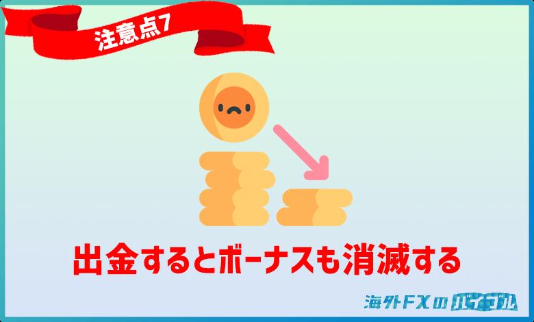 XMポイントは出金額と同じ割合で消滅する