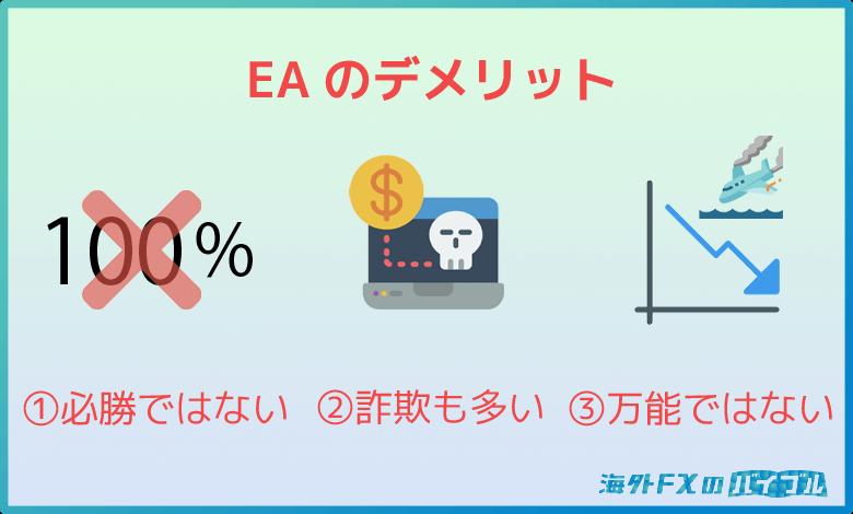 自動売買ソフト(EA)を利用する3つのデメリット