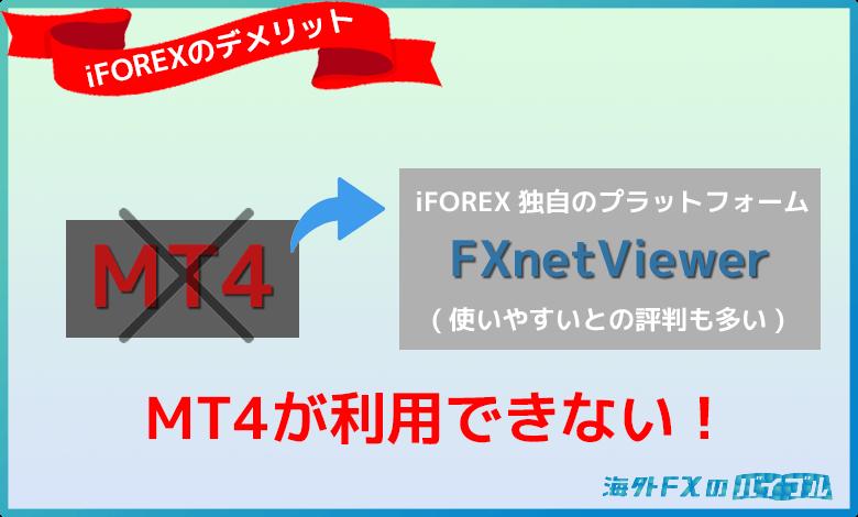 iFOREX(アイフォレックス)はMT4が利用できない