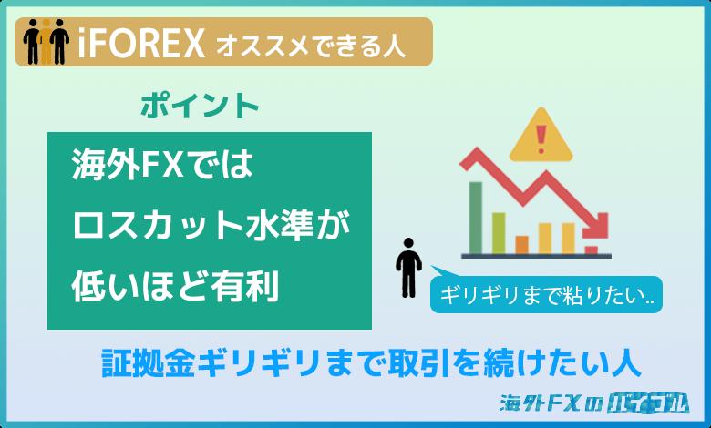 iFOREX(アイフォレックス)は証拠金ギリギリまでトレードしたい人にオススメ